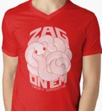 Zag On 'Em Mono Men's V-Neck T-Shirt