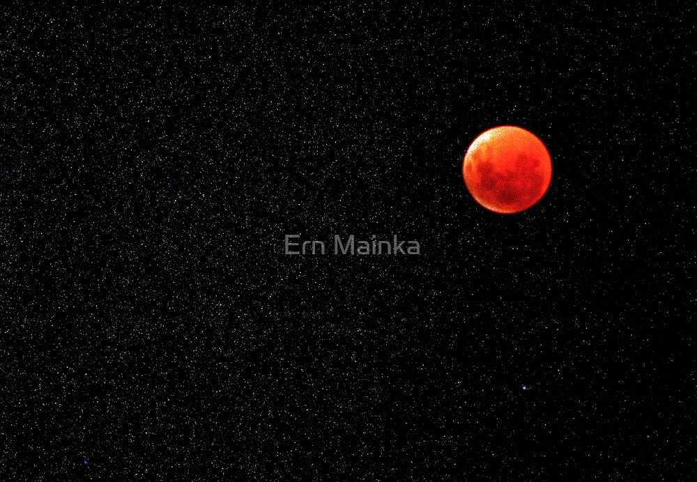 Total Lunar Eclipse 16 July 2000 by Ern Mainka