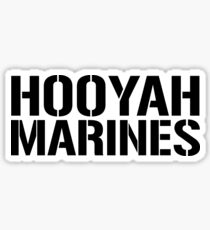 United States Marine Corps, Hooyah Marines Sticker