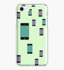 Pattern with smartphones mockups. iPhone Case/Skin