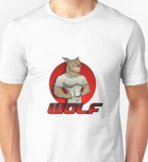 Cartoon werewolf on the red  Unisex T-Shirt