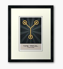 Retro Back To The Future Framed Print