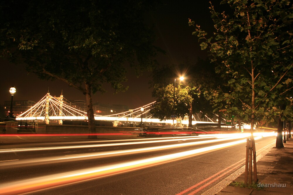 the city never sleeps lights bridge car by deanshaw