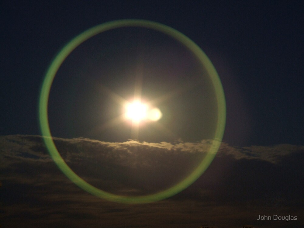Full Lunar Eclipse Green by John Douglas