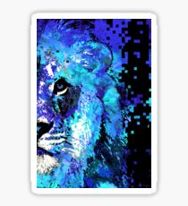 Blue Lion Art - Sharon Cummings Sticker
