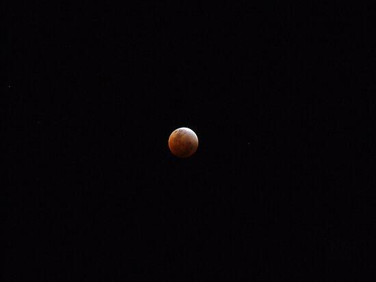 Full Lunar Eclipse Red by John Douglas