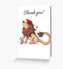 Lion Grad (Thank You Card) Greeting Card