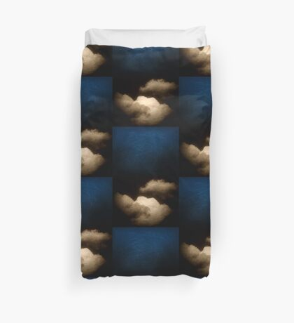 Clouds in a scratched darkness Duvet Cover