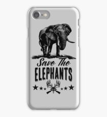 Save The Elephants iPhone Case/Skin