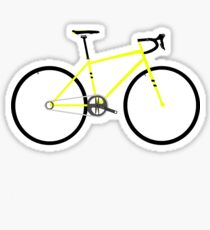 Yellow Road Bike Sticker