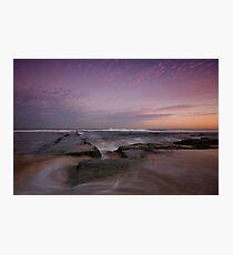 Bar Beach at Dusk 3 Photographic Print