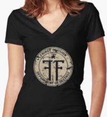 fringe Women's Fitted V-Neck T-Shirt