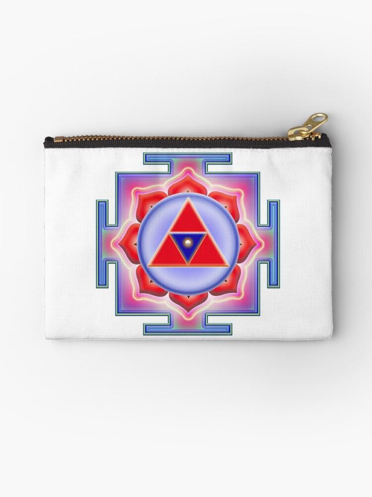 'Shiva Shakti Yantra YA-04a' Zipper Pouch by heartsforlove