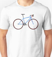 Road Bike Blue Unisex T-Shirt