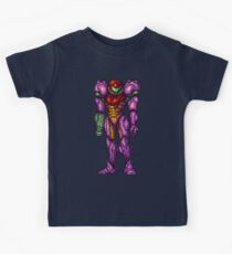 Samus Aran Purple Suit Kids Tee