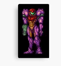 Samus Aran Purple Suit Canvas Print