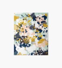Sloane - Abstract painting in free style navy, mint, gold, white, and turquoise  Art Board