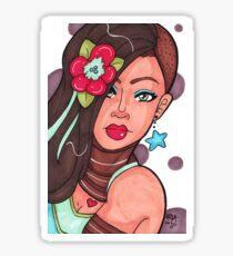 Flower in her Hair Sticker