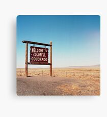 Welcome to Colorful Colorado Canvas Print