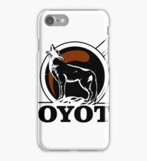 coyote howling at the moon vintage coffee iPhone Case/Skin