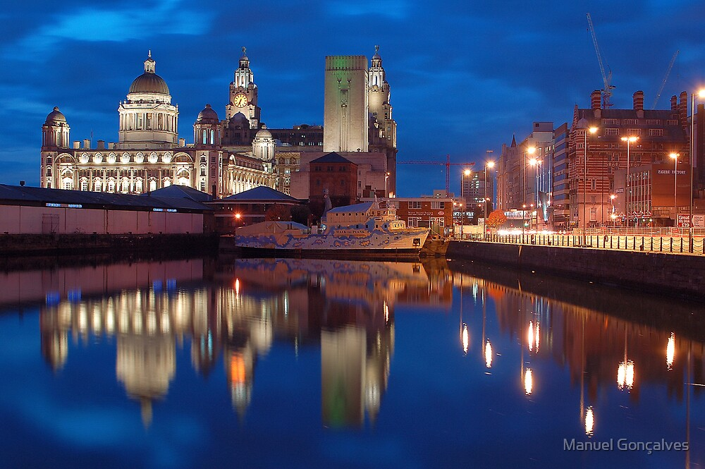 Albert Dock at night, Liverpool by Manuel Gonçalves