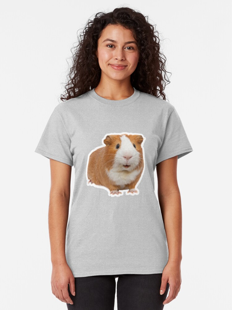 Alternate view of red guinea pig Classic T-Shirt
