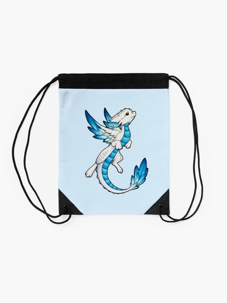Alternate view of Angel Dragon Drawstring Bag