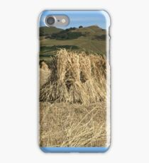 Thatchers Straw being collected in Dorset iPhone Case/Skin