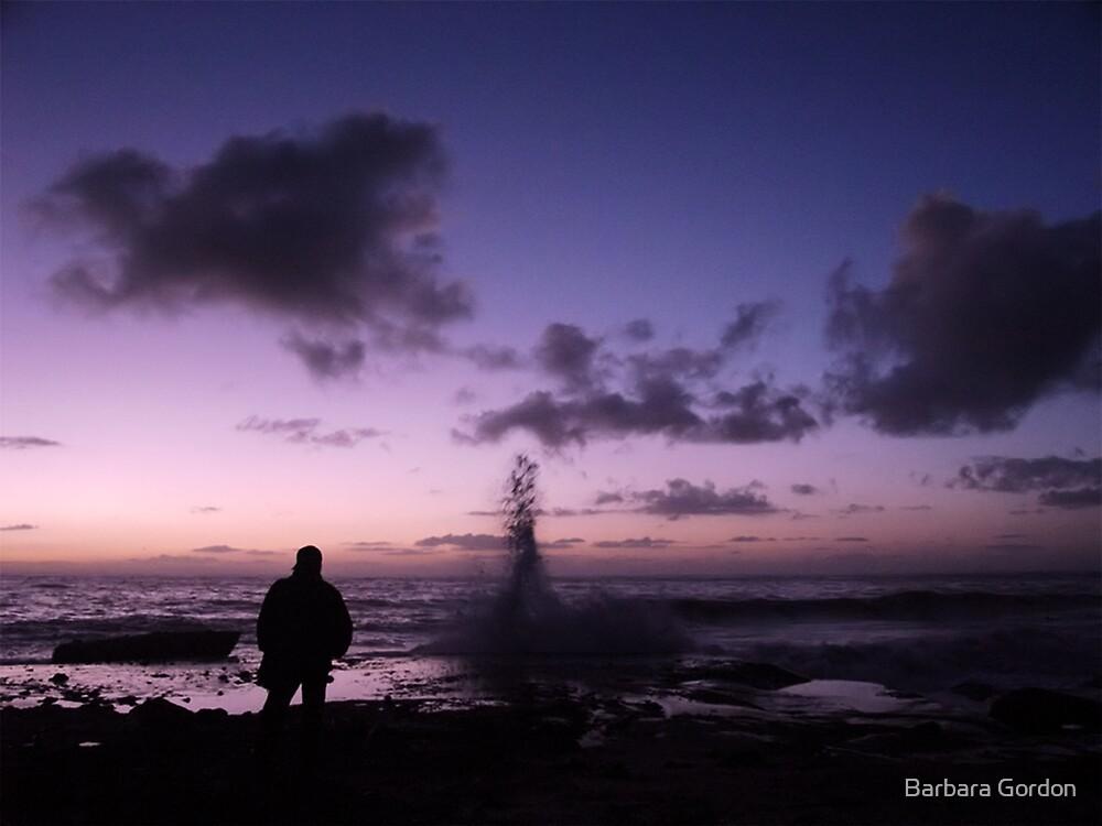 Lonely Winter Beach by Barbara Gordon