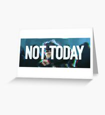 Not Today (Glitch White) - Bangtan BTS Greeting Card
