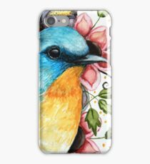 Bluebird Watercolor Art  iPhone Case/Skin