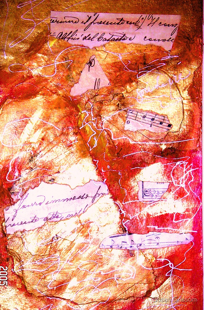 Red Collage No 2 by Susan Grissom
