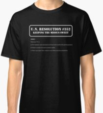 UN Resolution T-Shirt Classic T-Shirt