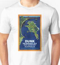 Australia Dunk Restored Vintage Travel Poster Unisex T-Shirt