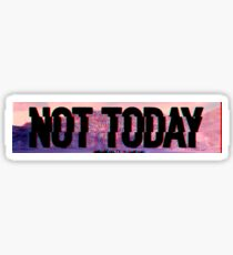 Not Today (Glitch Text) - Bangtan BTS Sticker
