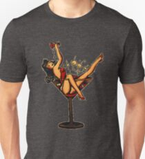 Woman in a martini glass art design Unisex T-Shirt