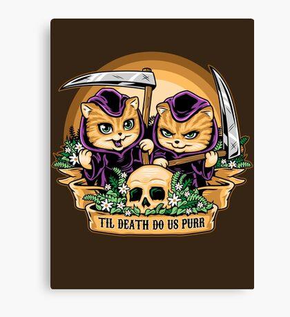 Til Death Do Us Purr Canvas Print