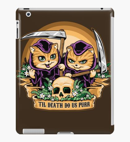 Til Death Do Us Purr iPad Case/Skin