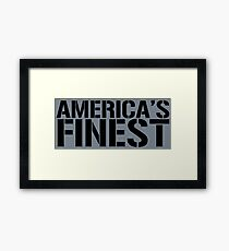 America's Finest, Marines, Army, Navy, Air Force, Coast Guard Framed Print
