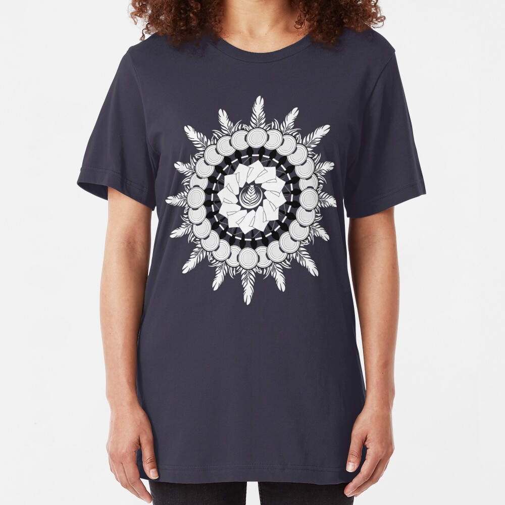 Barista Designs Mandala Slim Fit T-Shirt