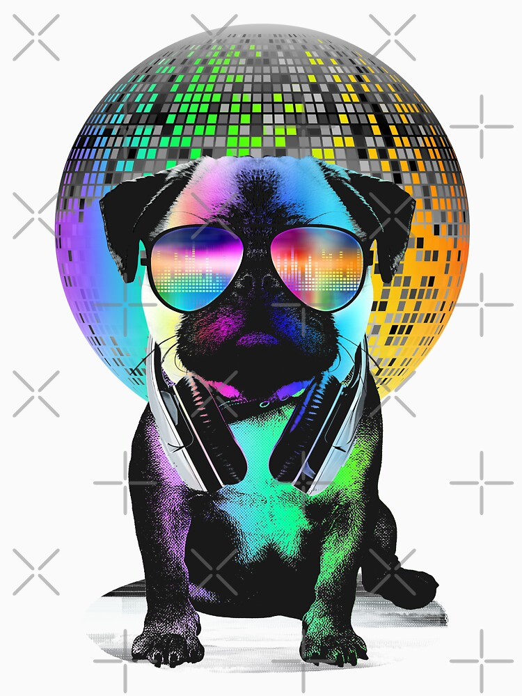 Disco Pug by clingcling