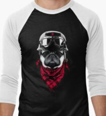 Adventurer Pug Men's Baseball ¾ T-Shirt