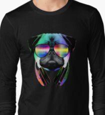 Music Love Pug Long Sleeve T-Shirt