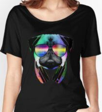 Music Love Pug Women's Relaxed Fit T-Shirt