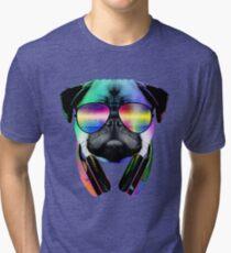Music Love Pug Tri-blend T-Shirt