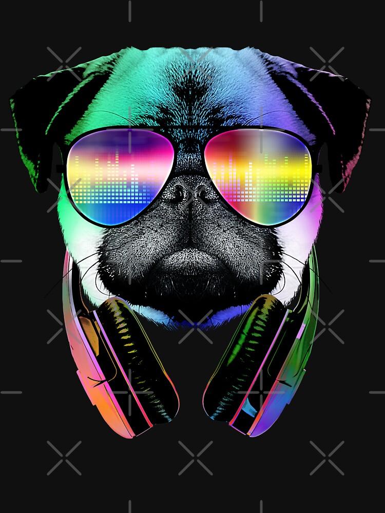 Music Love Pug by clingcling