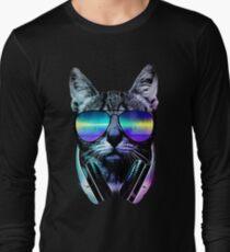 Music Lover Cat Long Sleeve T-Shirt