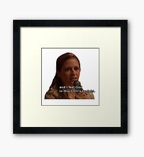 And I Feel God in This Chili's Tonight - The Office Framed Print