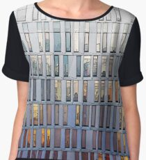 architecture illustration - graphic building facade Women's Chiffon Top