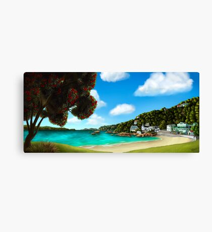 Summer in Scorching Bay Canvas Print